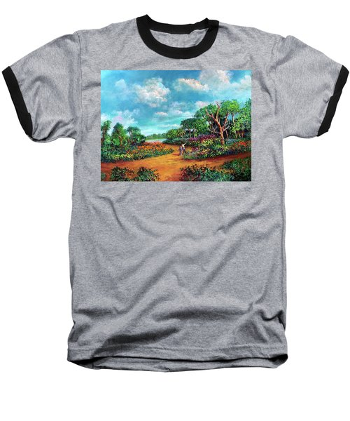 Baseball T-Shirt featuring the painting The Cycle Of Life by Randol Burns