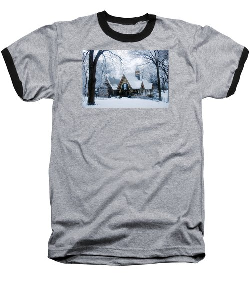 Baseball T-Shirt featuring the photograph The Dairy In Winter by James Kirkikis