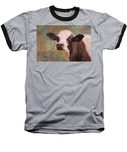 Baseball T-Shirt featuring the mixed media The Dairy Queen by Colleen Taylor