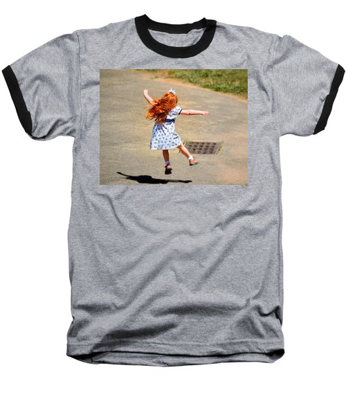 A Little Expression Baseball T-Shirt by Gary Smith