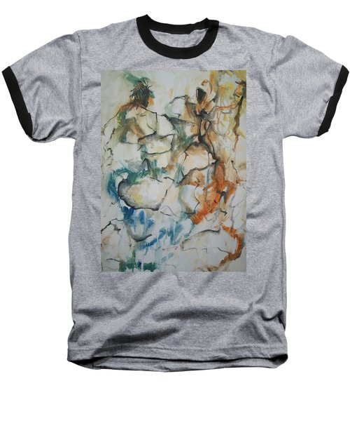 Baseball T-Shirt featuring the painting The Dance by Raymond Doward