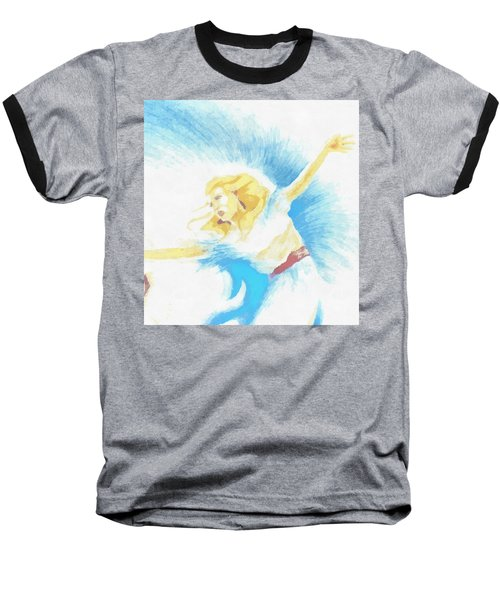 The Dancer Baseball T-Shirt by Mario Carini