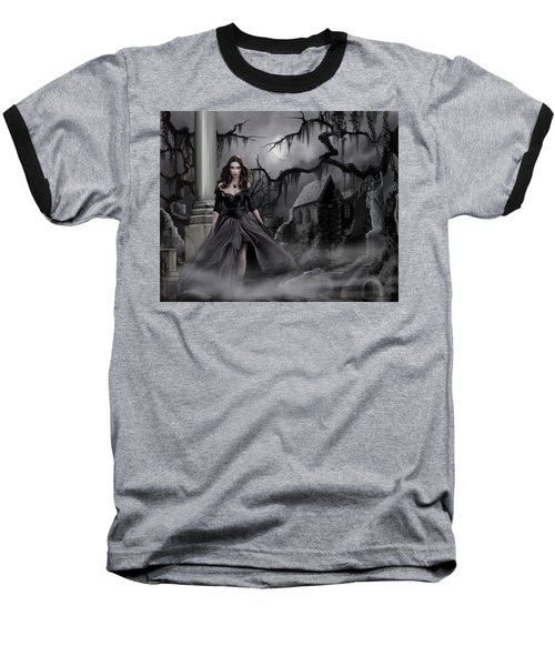 Baseball T-Shirt featuring the painting The Dark Caster Comes by James Christopher Hill