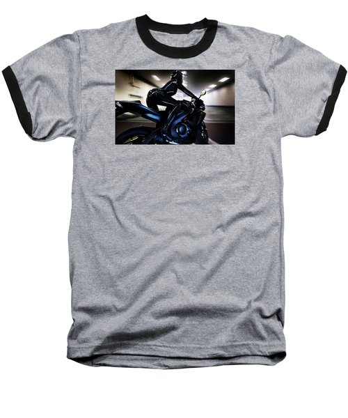 Baseball T-Shirt featuring the photograph The Dark Knight by Lawrence Christopher