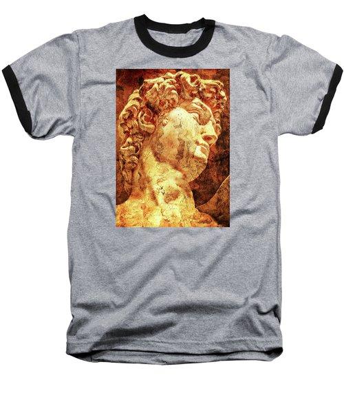 The David By Michelangelo Baseball T-Shirt by J- J- Espinoza