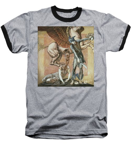 The Death Of Medusa I Baseball T-Shirt by Edward Coley Burne-Jones