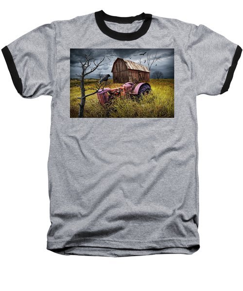Baseball T-Shirt featuring the photograph The Decline And Death Of The Small Farm by Randall Nyhof
