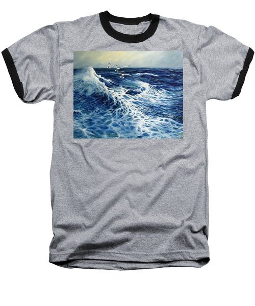 The Deep Blue Sea Baseball T-Shirt by Eileen Patten Oliver