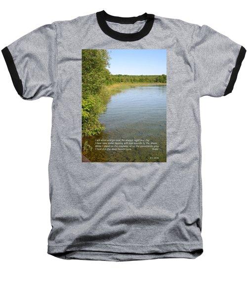 The Deep Heart's Core Baseball T-Shirt by Deborah Dendler