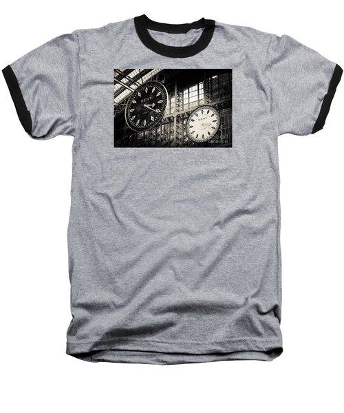 The Dent Clock And Replica At St Pancras Railway Station Baseball T-Shirt