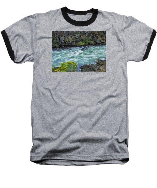 Baseball T-Shirt featuring the photograph The Deschutes River At Dillon Falls by Nancy Marie Ricketts