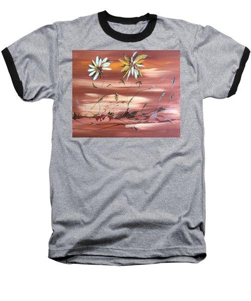 The Desert Garden Baseball T-Shirt by Pat Purdy