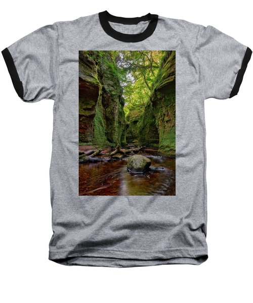 The Devil Pulpit At Finnich Glen Baseball T-Shirt