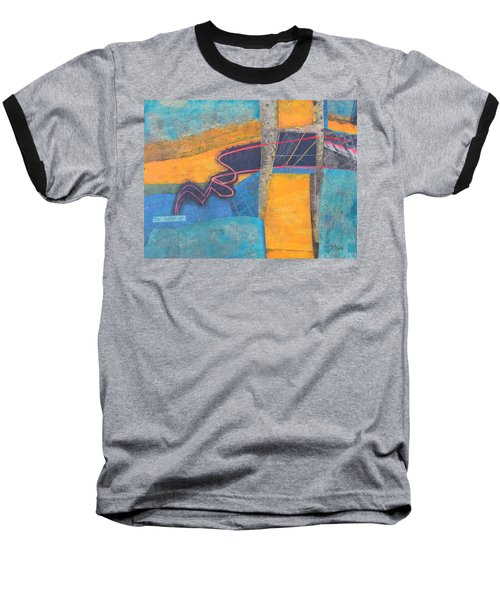 The Digital Age Baseball T-Shirt by Nancy Jolley