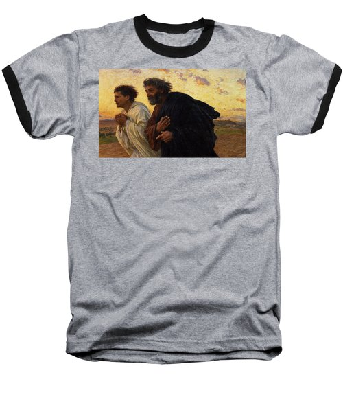 The Disciples Peter And John Running To The Sepulchre On The Morning Of The Resurrection Baseball T-Shirt
