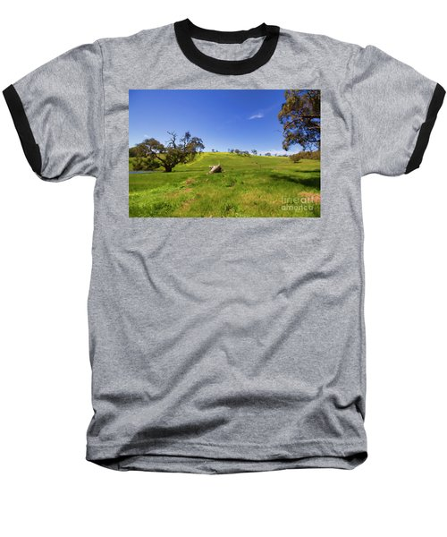 Baseball T-Shirt featuring the photograph The Distant Hill by Douglas Barnard
