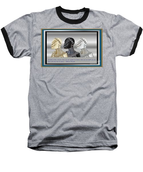 Baseball T-Shirt featuring the digital art The Divine Sisters by Jacqueline Lloyd