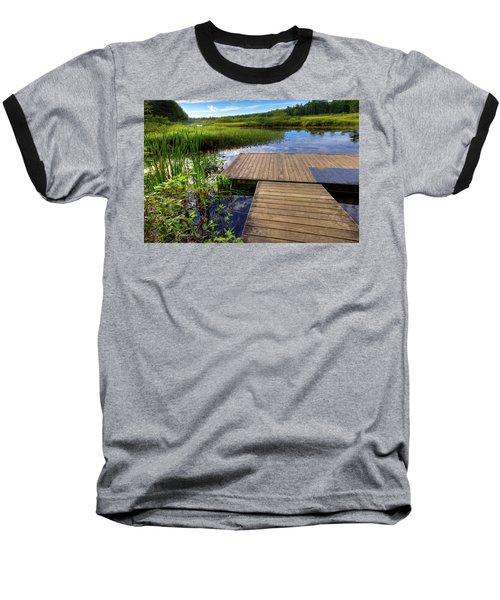 The Dock At Mountainman Baseball T-Shirt by David Patterson