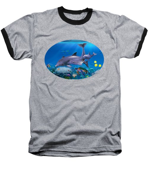 The Dolphin Family Baseball T-Shirt