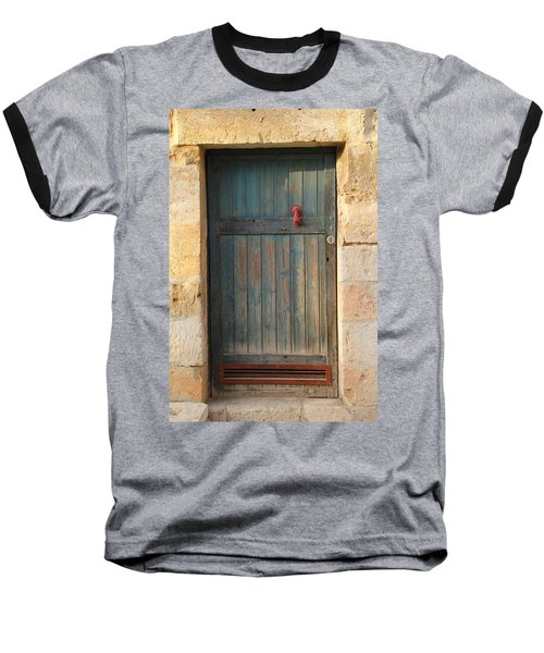 Baseball T-Shirt featuring the photograph The Door And The Hand by Yoel Koskas
