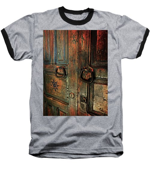 The Door Of Many Colors Baseball T-Shirt