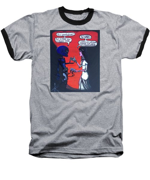 The Downside Of Time Travel Baseball T-Shirt