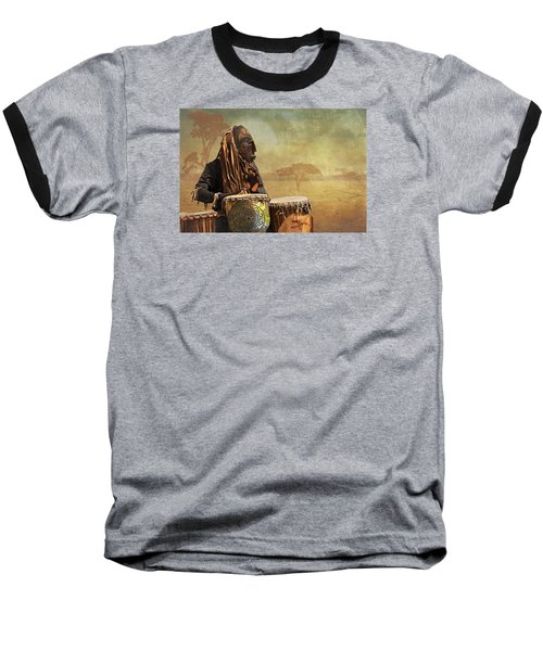 Baseball T-Shirt featuring the photograph The Dream Of His Drums by Christina Lihani