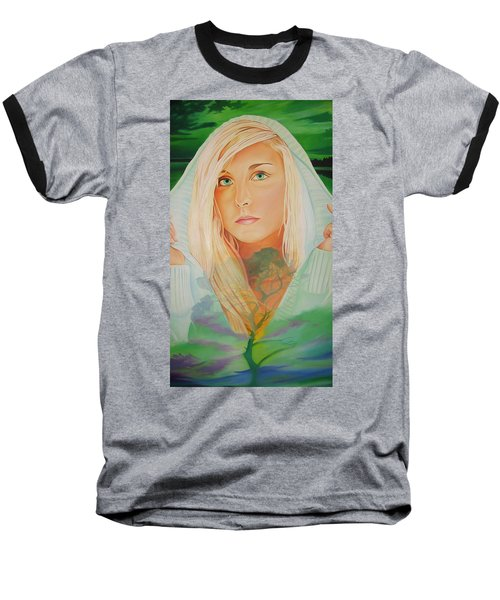 Baseball T-Shirt featuring the painting The Dreaming Tree by Joshua Morton
