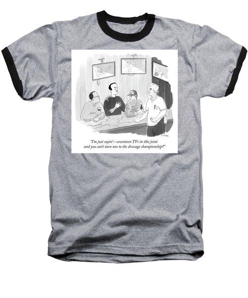 The Dressage Fan Baseball T-Shirt