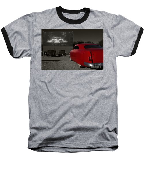 The Drive-in Baseball T-Shirt by Dennis Hedberg