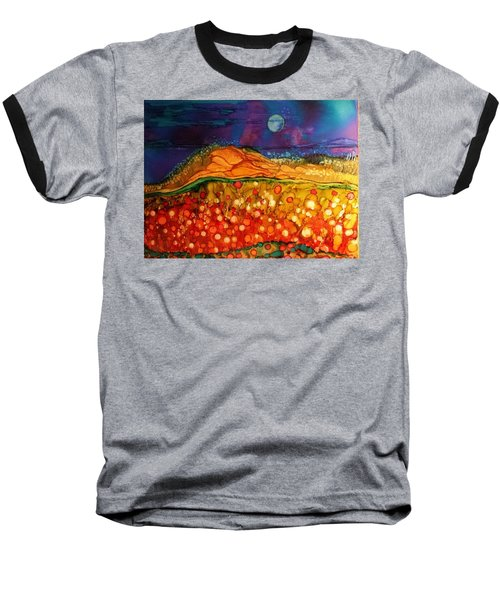 The Dunes At Night Baseball T-Shirt