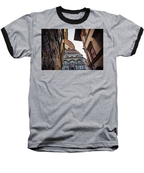The Duomo Surrounded By Medieval Buildings In Florence, Italy Baseball T-Shirt