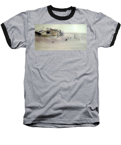 Baseball T-Shirt featuring the painting The Dustbowl by Ed Heaton