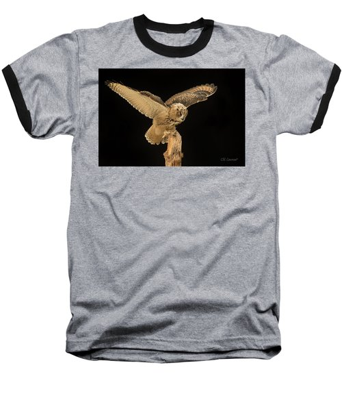 The Eagle-owl Has Landed Baseball T-Shirt
