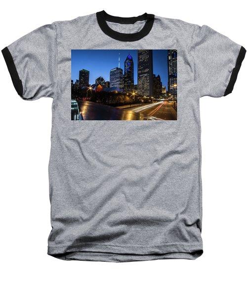 The East Side Skyline Of Chicago  Baseball T-Shirt