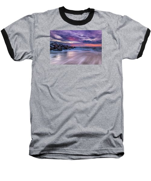 The Edge - Folly Beach, Sc Baseball T-Shirt