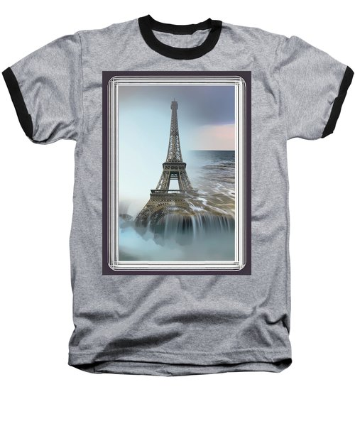 The Eiffel Tower In Montage Baseball T-Shirt