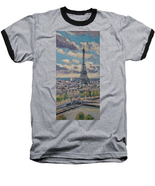 The Eiffel Tower Paris Baseball T-Shirt by Nop Briex