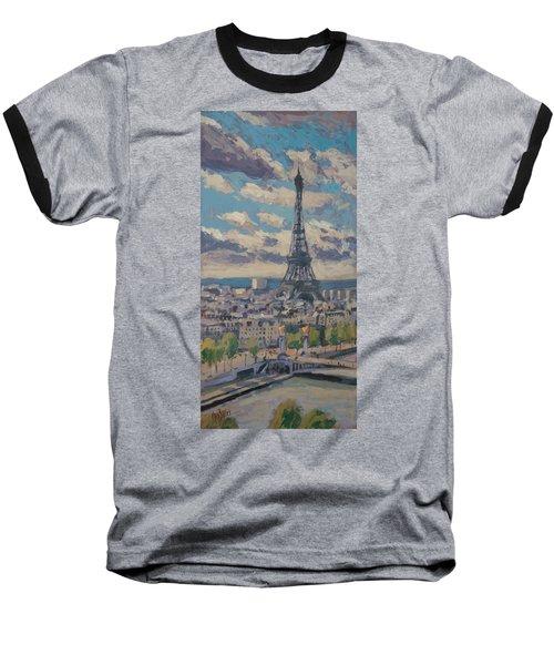 The Eiffel Tower Paris Baseball T-Shirt