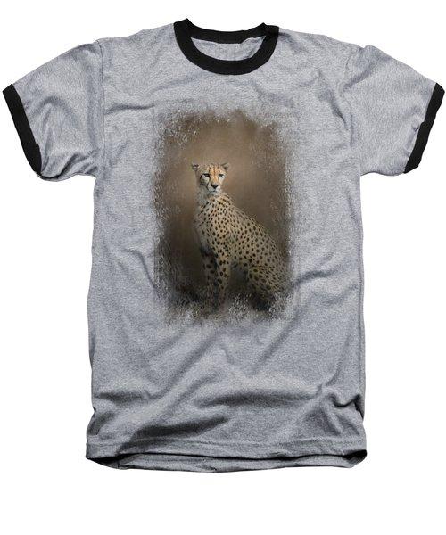 The Elegant Cheetah Baseball T-Shirt by Jai Johnson