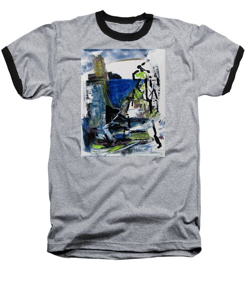 Baseball T-Shirt featuring the painting The Elements by Betty Pieper