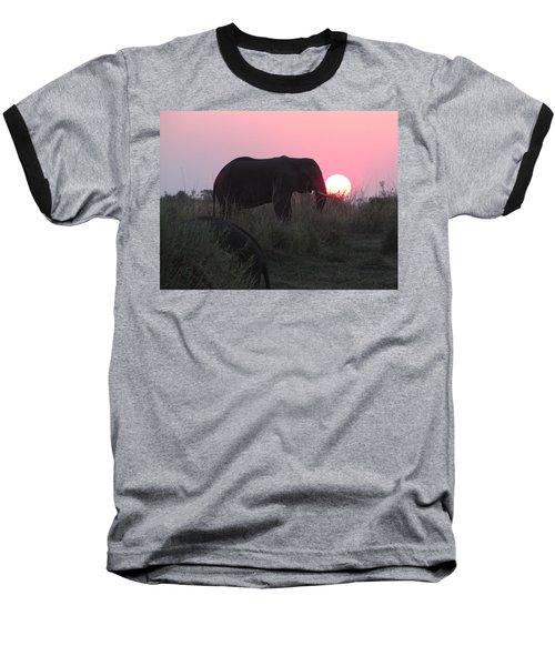 The Elephant And The Sun Baseball T-Shirt