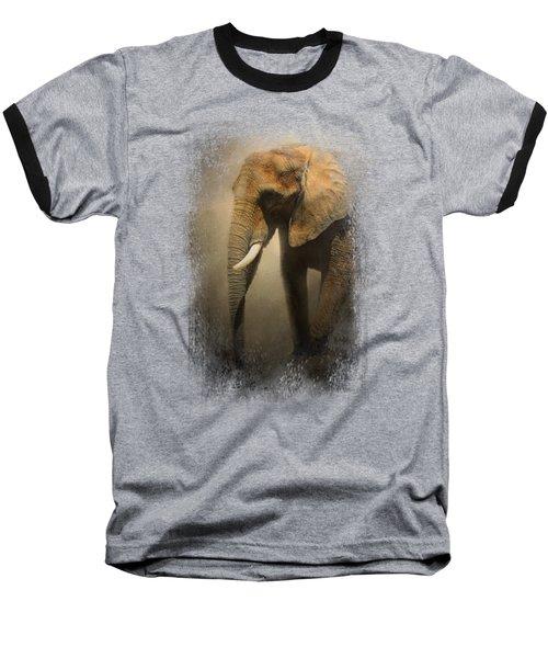 The Elephant Emerges Baseball T-Shirt by Jai Johnson
