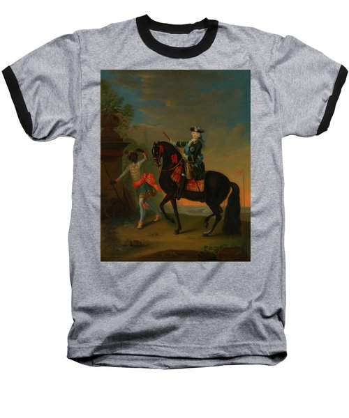 Baseball T-Shirt featuring the painting The Empress Elizabeth Of Russia by Georg Grooth