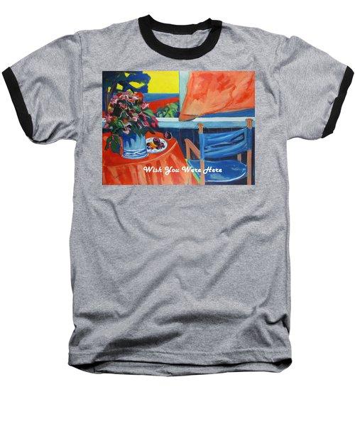 The Empty Blue Canvas Chair Baseball T-Shirt