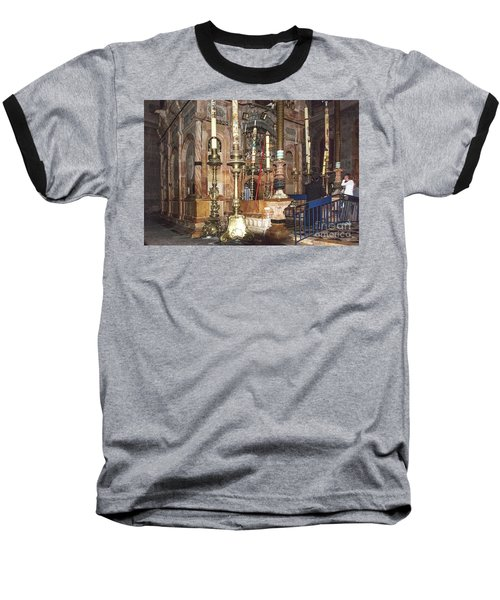 Baseball T-Shirt featuring the photograph The Empty Tomb Of Christ by Mae Wertz
