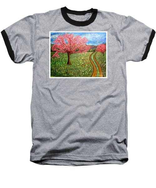 The Enchanted Fairy Garden Meadow Baseball T-Shirt by Kimberlee Baxter