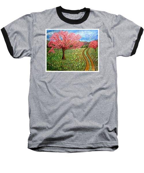 The Enchanted Fairy Garden Meadow Baseball T-Shirt