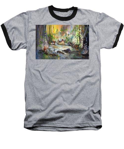 The Enchanted Pool Baseball T-Shirt by P Anthony Visco