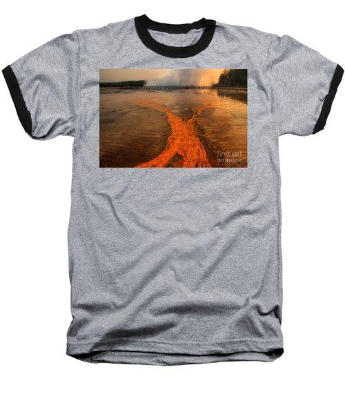 The Enchantment Of Grand Prismatic Spring Baseball T-Shirt